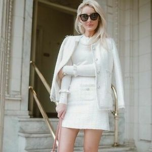 Brand new with tags pearl tweed zara skirt medium